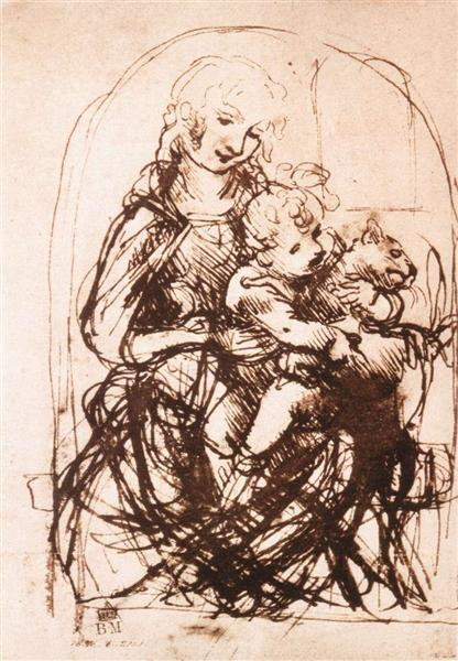 study-of-the-madonna-and-child-with-a-cat-jpglarge